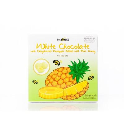 #25 菠蘿心白巧克力